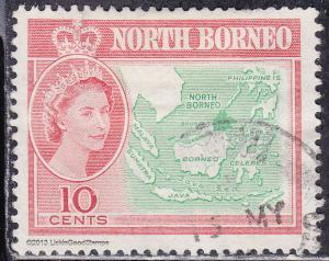 North Borneo 284  Map of North Borneo 1961