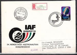 Hungary, Scott cat. 2813. Astronautical, IMPERF issue. First day cover.