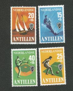Netherlands Antilles-Scott's # B151-B154-Sports-MNH
