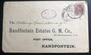 1901 Johannesburg South Africa Censored Gold Mining Commercial To Randfontein
