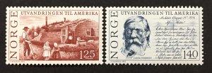 Norway 1975  #658-9, Norweigan Emigration, Unused/MH.