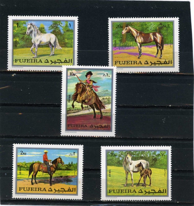 Fujeira MNH MI 582-6A Horses 1976