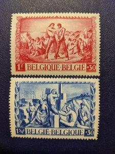 Belgium B395-396 Superb MH, CV $3.20
