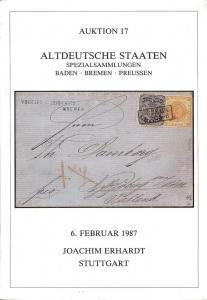 Erhardt: Sale # 17  -  Altdeutsche Staten Specialsammlung...