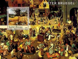 GUINEA BISSAU 2003 SHEET BRUEGEL ART PAINTINGS