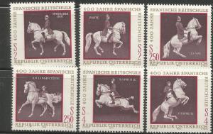 AUSTRIA , 929 A-F, MNH, HORSES
