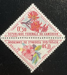 Cameroun #J34-J35 (J35a) Mint Hinged Pair - 1963 Flowers: Hibiscus + Erythrina