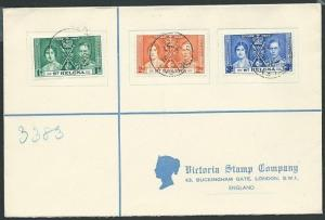 ST HELENA 1937 Coronation set on cover to UK...............................44118