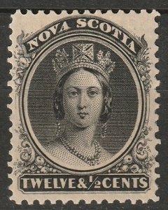 Nova Scotia 1860 Sc 13 MH* some disturbed gum