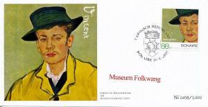 [100475] Caribbean Netherlands 2016 Van Gogh Gogh Armand Roulin Comm. Cover MNH