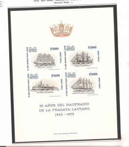 Chile 1975 Frigate S/S MNH cat 60 Euro (bar)