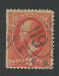 1887 US Stamp #214 Used F/VF Canceled Catalogue Value $50