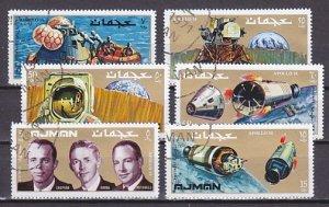 Ajman, Mi Cat. 755-760 A. Apollo 14, Space issue. Canceled. ^