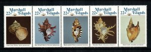 Marshall Islands MNH Strip 69a Sea Shells