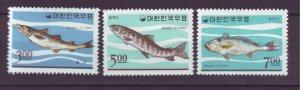 J21959 Jlstamps 1966 south korea set mh #496-8 fish