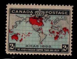 Canada Scott 86 MH* Christmas 1898 Map Stamp CV $45