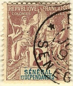 Senegal Sc #36 Fine Used hr French Colonies are Hot!