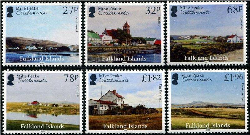 2021 Falkland Islands Settlements Peake Paintings (6)  (Scott NA) MNH