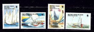 British Virgin Is 631-34 MNH 1989 Yachts    (ap1109)
