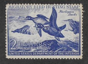 RW19 MNH, Federal Duck Stamp, scv: $90, FREE INSURED SHIPPING