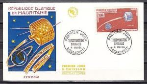 Mauritania, Scott cat. C35. Communicatio Space Satellite issue. First day cover.