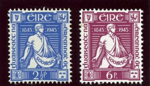Ireland 1944 KGVI Centenary of Thomas Davis set complete superb MNH. SG 136-137.