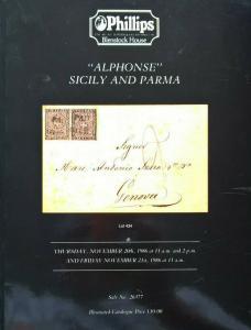 Auction Catalogue ALPHONSE SICILY & PARMA Italia Sicilia Italy Italian States