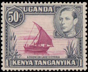 1938 Kenya, Uganda, Tanzania #79a, Complete Set, Never Hinged