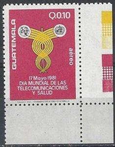 Guatamala C762  MNH  International Telecommunications & Health Day 1983