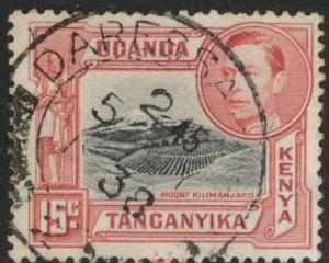 Kenya Uganda and Tanganyika KUT Scott 72 used 15c CV$3.25