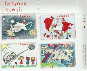 Canada Stamp #1862a - Stampin' the future (2000) 4 x 46¢