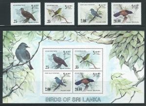 Sri Lanka 691-4a 1983 Birds set and s.s. MNH