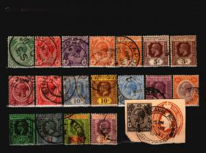 Straits Settlements 20 Used, some faults - C1278