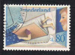 Netherlands 1980  used  Child Welfare   80 + 30 ct    #