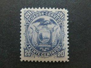 A4P46F52 Ecuador 1881 20c mh*