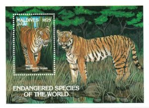 Maldives MNH S/S 1867 Endangered Tigers