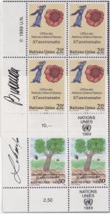 UN GENEVA MNH Scott # 178-179 Vienna Offices Corner Blocks (8 Stamps) -2