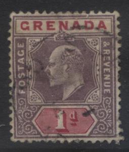 Grenada -Scott 48 - KEVII -1902 - FU - Single 1p Stamp