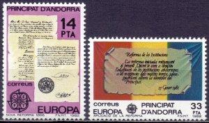 Andorra. 1982. 153-54. Antique Documents Europe. MNH.