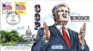 COLLINS HAND PAINTED 2887 Newt Gingrich Republicans Control Congress First in 40