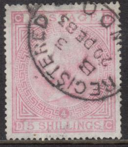 Great Britain #90 VF Used Plate #4 With 20 Dec 1883 Cancel