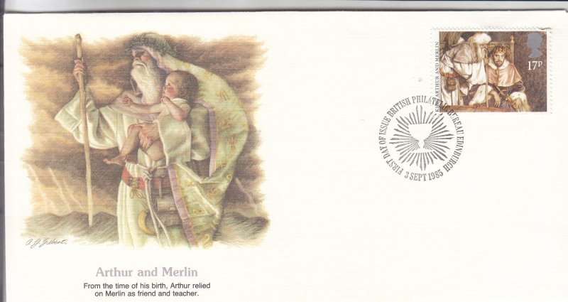 1985, Great Britain: Arthur and Merlin, FDC (S18807)