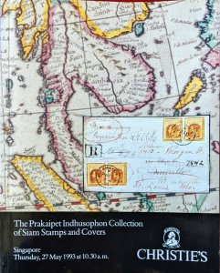 Auction Catalogue Prakaipet Indusophon SIAM STAMPS and COVERS Thailand