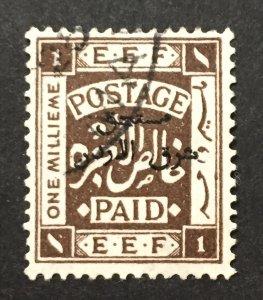 Palestine 1918 #4, Overprint, Used.