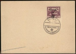 3rd Reich 1938 Germany Sudetenland Reichenau Private Overprint Cover 94677