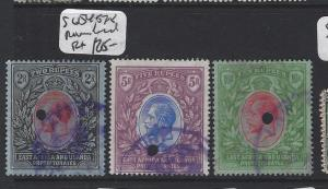 EAST AFRICA AND UGANDA  (P0205B)  KGV 2R, 5R 10R SG 54, 57-8 REVENUE USED