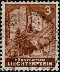LIECHTENSTEIN - 1937 - Mi.156 (dark shade) used SCHAAN / P.P. date stamp