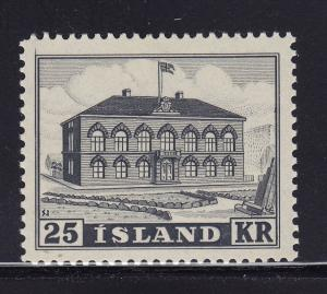 Iceland Scott # 273 VF-XF never hinged nice color scott cv $ 250 ! see pic !