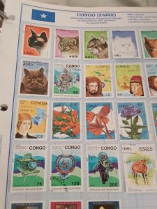scott 1024 lot whole page of stamps Republic of Congo