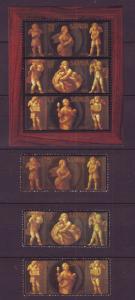 J10960 Jlstamps 1984 samoa set + s/s mnh #634-6a christmas